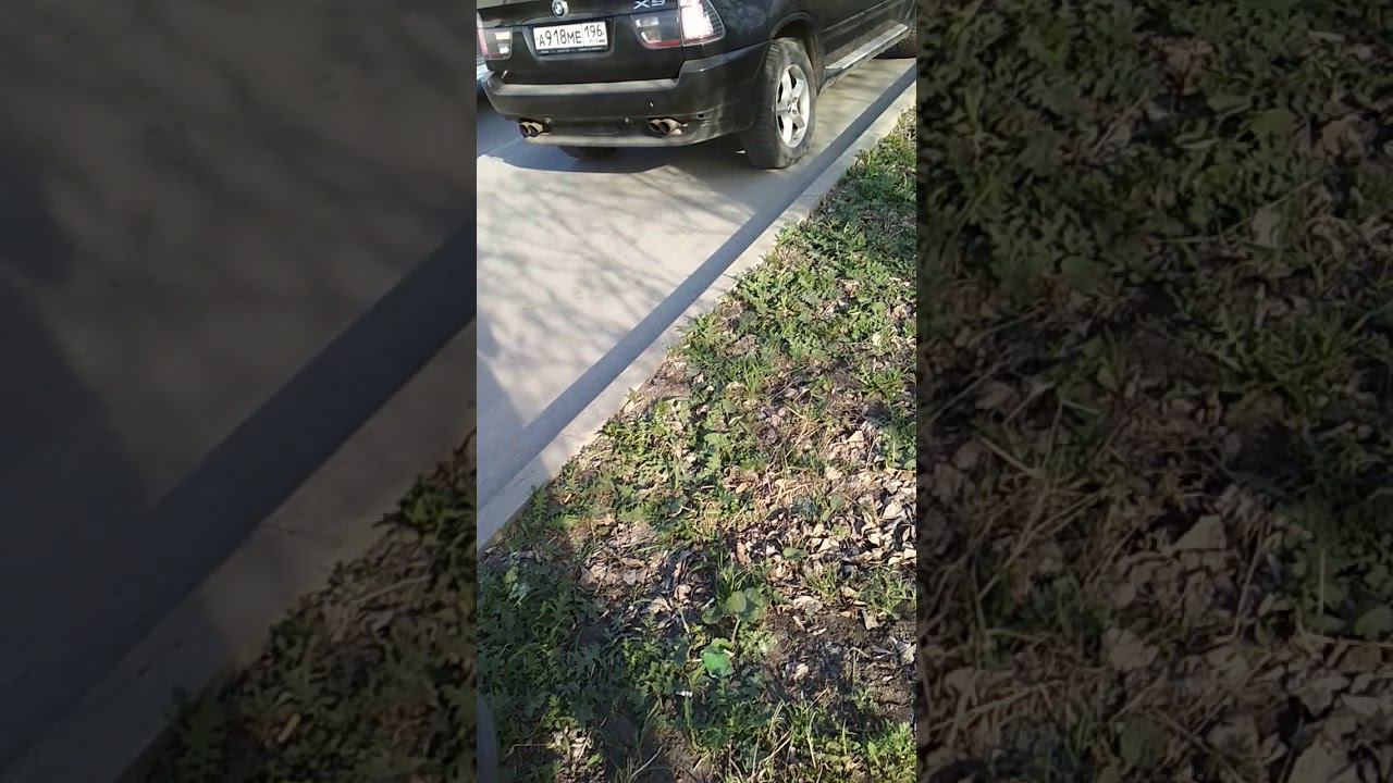 Водитель BMW X5 объезжая пробку по тротуару, переехал и ударил велосипедиста