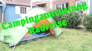 Campingausrüstung Radreise   Zelt, Luftmatratze, Schlafsack