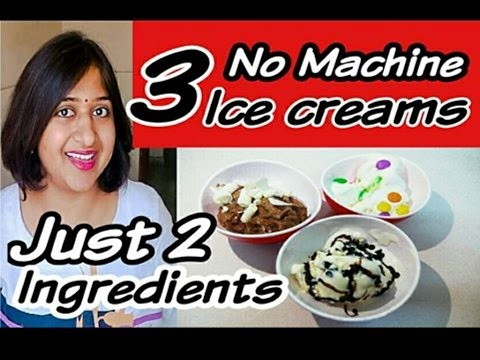 Video Homemade Ice Cream,3 Flavours,Ice Cream Recipe,Easy Ice Cream Recipe,No Machine Ice Cream Recipe