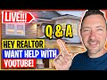 🔥 LIVE Q&A - YOUTUBE MARKETING FOR REAL ESTATE AGENTS