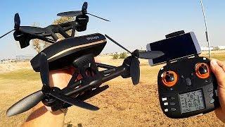 WLToys Q373-E 720p HD FPV Camera Drone Flight Test Review