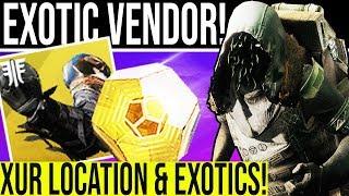 Destiny 2. XUR 2.0 EXOTIC VENDOR! How To Find Xur & Exotic Gear 2.0 Random Rolls Oct 18, 2019