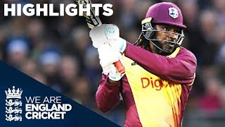 Huge Hitting From Gayle And Hales In Durham | England v West Indies IT20 2017 - Highlights