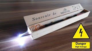 1 Mio. Volt Elektroschocker selbst bauen - Taser aus Zigarrenschachtel