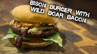 Bison Burger with Wild Boar Bacon, Gouda and Smoky Mayo