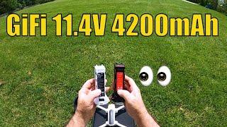 Hubsan Zino Testing GiFi 11.4V 4200mAh Modularized Li Po Battery