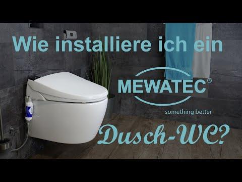 Dusch WC einbauen - so montieren Sie ein MEWATEC Dusch WC Aufsatz