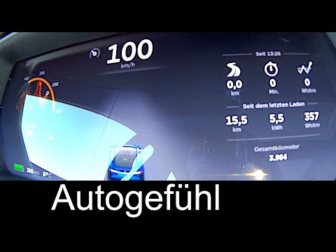 Tesla Model S p90D (p85D upgrade) insane speed acceleration test 0-100 km/h 0-60 mph - Autogefühl