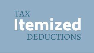 Itemized Deductions I Tax Tips