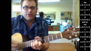 """How to play """"Self Esteem"""" by The Offspring on acoustic guitar"""