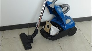 AEG vacuum cleaner type, VC-H4217E-10, Model: VX4-1-CB-P, Staubsauger - test, example  movie #105