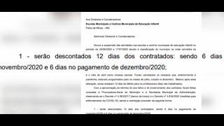 Prefeitura de Patos de Minas anuncia corte de salário de contratados que ficaram 12 dias sem trabalhar na pandemia