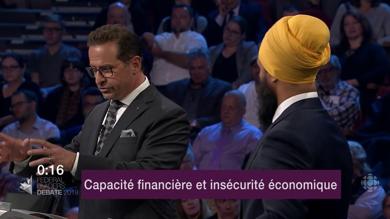 Yves-François Blanchet et Jagmeet Singh débattent sur la péréquation