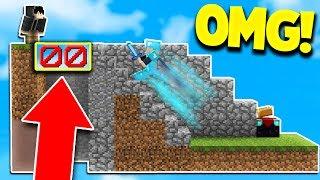 MINECRAFT BEST INVISIBLE FLOOR TROLL! (Minecraft SKYWARS Trolling)