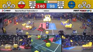Quarterfinal Tiebreaker 2 - 2018 FIRST Championship - Houston - Turing Subdivision
