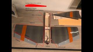 Foamboard 80cm wing FPV