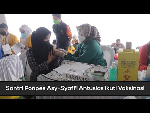 Santri Ponpes Asy Syafi'i Nganjuk Antusias Ikuti Vaksinasi