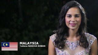 Tatiana Kumar Contestant from Malaysia for Miss World 2016 Introduction