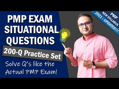 PMP EXAM SITUATIONAL QUESTION Practice Set |PMP Exam ...