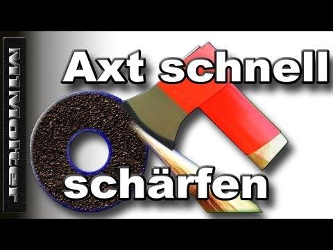 Axt schärfen Kurzanleitung - Wenn`s mal schnell gehen soll von M1Molter