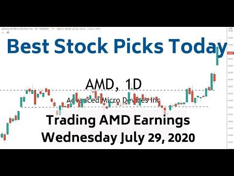 Trading AMD Earnings 7 29 20 Best Stock Picks Today