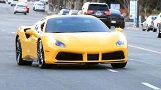 Tyga And Kylie Jenner Loving The New Ferrari