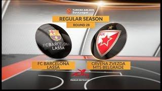 Highlights: FC Barcelona Lassa-Crvena Zvezda mts Belgrade