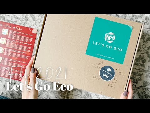 Let's Go Eco Unboxing Fall 2021