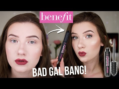 LIGHTEST MASCARA EVER?! | BENEFIT BAD GAL BANG Mascara | Review + Demo
