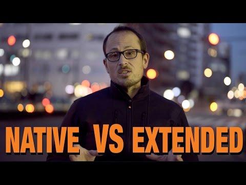 Native VS Extended ISO range