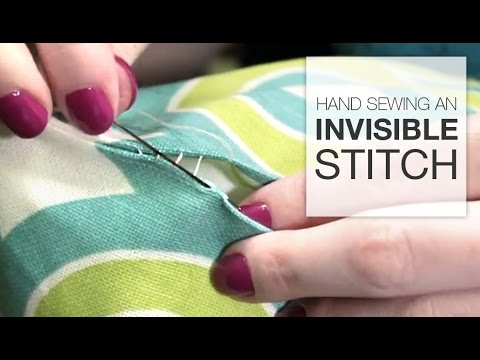 How to Hand Sew an Invisible Stitch