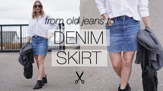 DIY Denim Skirt From Old Jeans | Fix Your Wardrobe Series