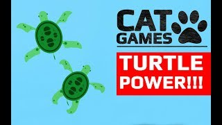 CAT GAMES - 🐢 TURTLE POWER!!! (ENTERTAINMENT VIDEOS FOR CATS TO WATCH) 60FPS