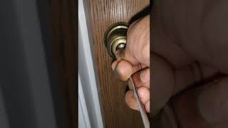 How to open door lock which has small hole