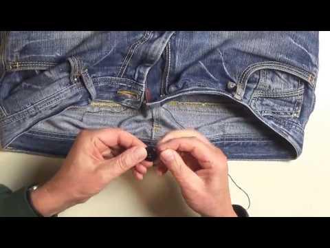 Jeans Knopf abgerissen - Jeanskonpf ausgerissen Reparatur