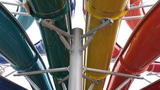 preview picture of video 'Therme Erding - Rainbow Racer Mattenrutsche Onride'