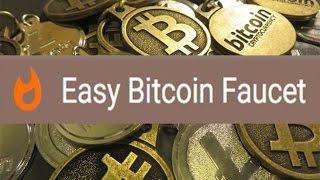 Обзор крана Easy Bitcoin Faucet. Посещение каждые 10 минут, выигрыш от 16 до 48 сатоши.