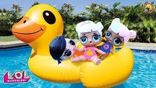 Мультик! Куклы ЛОЛ с малышами едут на Гигантскую Утку LOL Surprise Видео для детей с игрушками