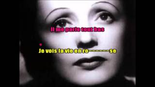 ANDREA BOCELLI & EDITH PIAF -  LA VIE EN ROSE -  KARAOKE VOIX