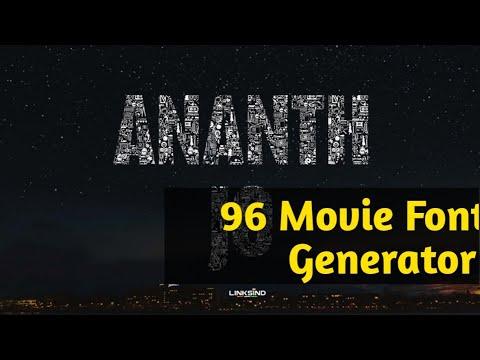 96 Tamil movie font generator| Create Your Name - смотреть онлайн на