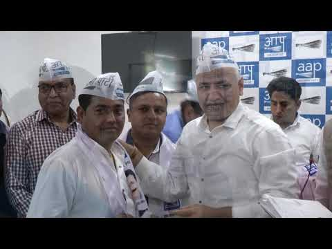 People From Gandhi Nagar Joined AAP In Presence of Dy CM Manish Sisodia