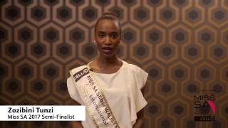 Introduction Video of Zozibini Tunzi Miss South Africa 2017 Contestant from Tsolo, Eastern Cape