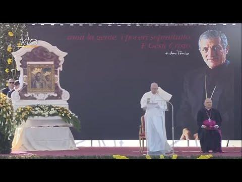 Visite du pape François à Alessano (Italie)  : Rencontre avec les fidèles