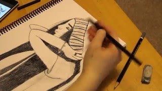 Hipster Girl Time Lapse Drawing | Jade Whynot