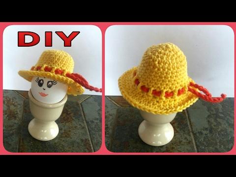 Eierwärmer  ' Damenhut ' häkeln • DIY  * Julebuergerfee