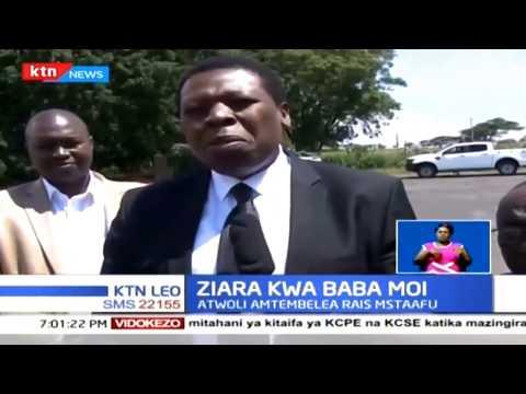 Francis Atwoli pamoja na waziri wa ugatuzi Eugene Wamalwa wamemtembelea rais mstaafu Daniel Moi