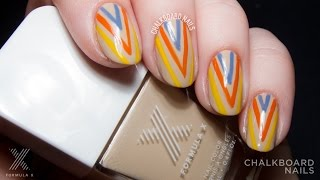 TUTORIAL: Colorful Summer Stacked V Nail Art