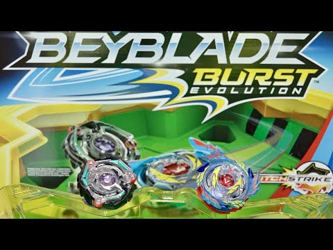 BEYBLADE BURST EVOLUTION! Star Storm Battle Set Unboxing & Review - Genesis Valtryek V3 & Satomb S3