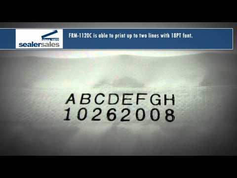 Sealer Sales FRM-1120C Horizontal Continuous Band Sealer with Dry Ink Coding FRM-1120C Horizontal Free-Standing Band Sealer