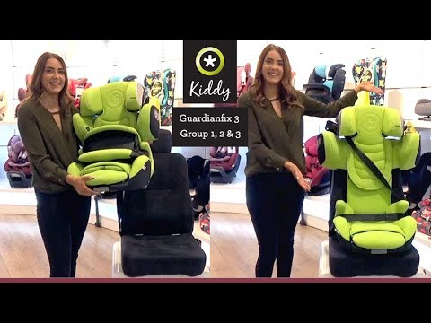 Kiddy Guardianfix 3 Group 1 2 & 3 Car Seat Installation Demo - Direct2Mum